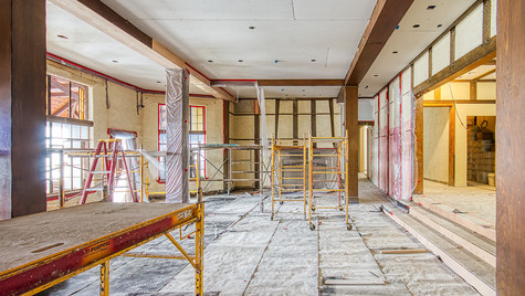main bldg. lounge ceiling
