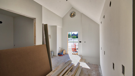 cottage three hall looking W - with primer