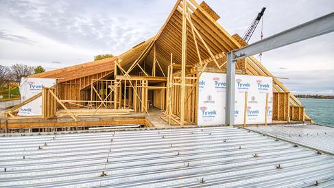 N wing 2nd floor & attic construction