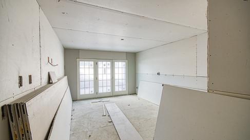 N wing 1st floor room drywall