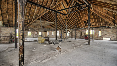Main structure 2nd floor N end room walls removed