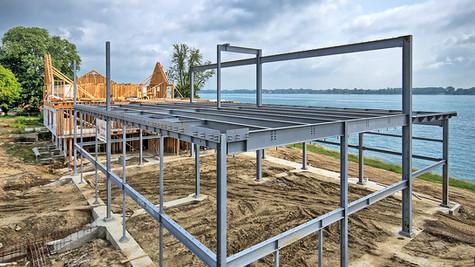 middle section steel framework
