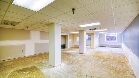 lower level room on W side