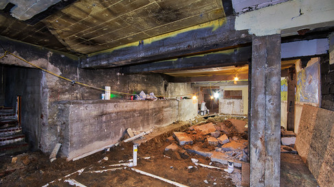 basement - 'speakeasy room' drain lines replacement