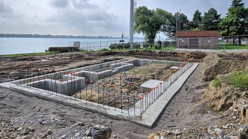 pool house foundation