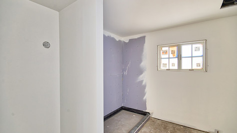 cottage three room off hall with primer