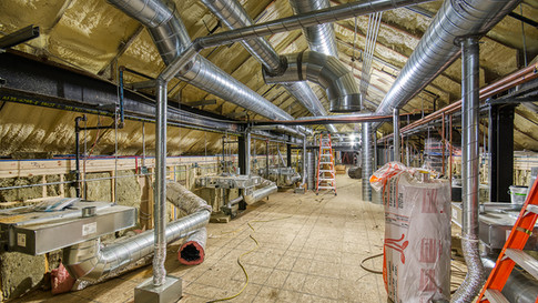 Main structure attic HVAC
