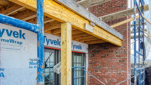 N wing NE end brickwork -one