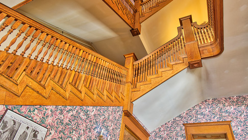 staircase looking up