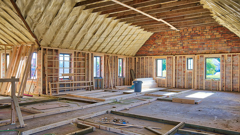 main structure 2nd floor framing looking SW view 2