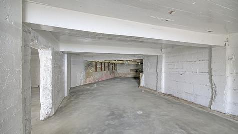 Basement new concrete floor view three