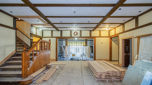 main building lobby looking E to lounge