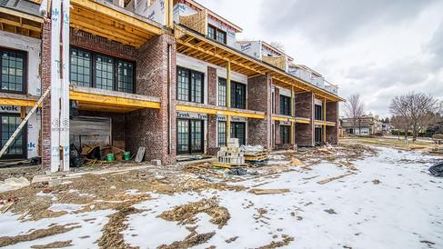 N wing NE side brickwork looking N
