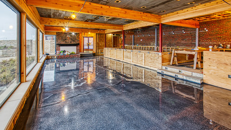 dive bar poured floor