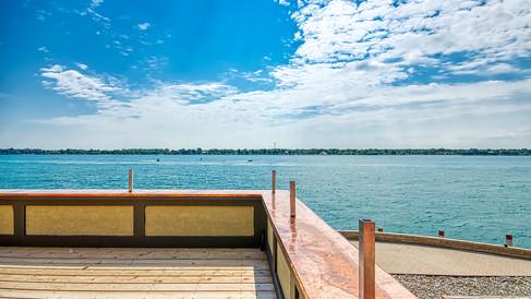 copper top around main bldg deck rms 245