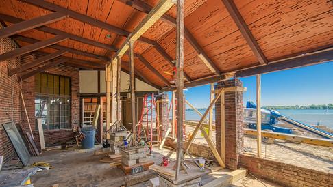 main bldg dining porch roof raising