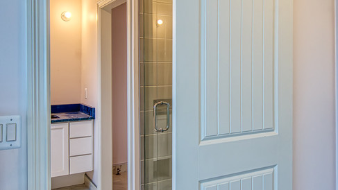 cottage one master bath sliding door