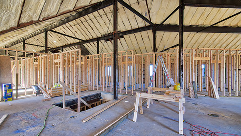 main structure 2nd floor framing looking W