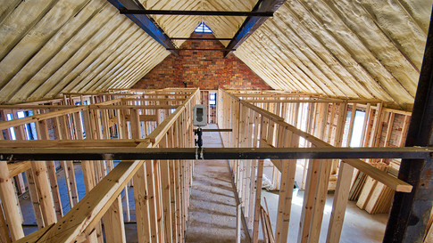main structure 2nd floor framing looking SE