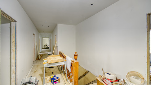 main structure 2nd floor hall drywall