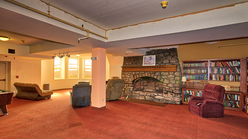 lower level fireplace-lounge