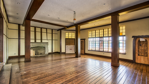 main bldg lounge varnished floor