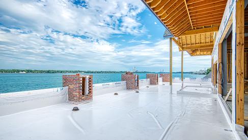 sky lounge deck work