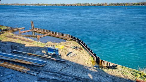 breakwater construction N end