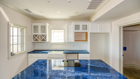 cottage one blue granite counter top