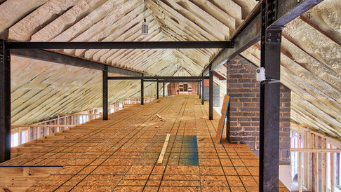 main structure room ceilings view two