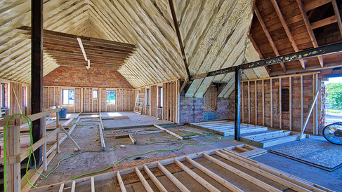 main structure 2nd floor framing looking W view 2