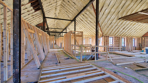 main structure 2nd floor framing looking SW