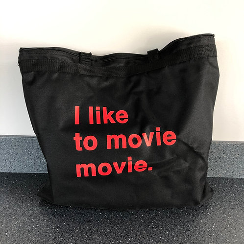"""I like to movie movie."" w/ Classic Logo - Zipping Tote"