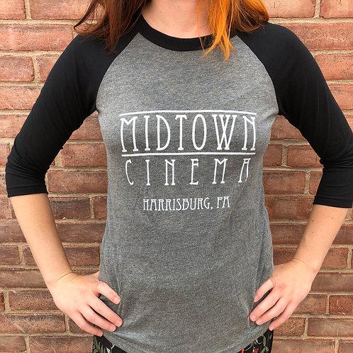 Midtown Cinema Classic Logo - Baseball T-shirt
