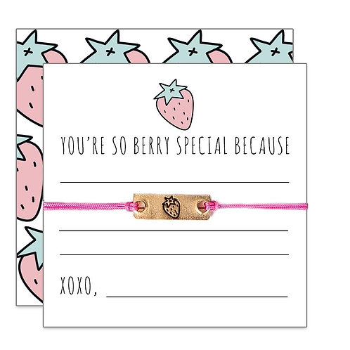 "Friendship Bracelet-""You're So Berry Special"""