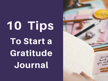 Tips for keeping a gratitude journal