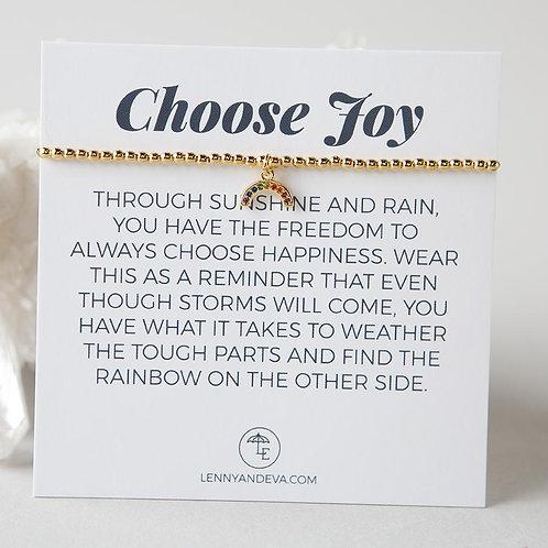 Choose Joy Bracelet, Rainbow