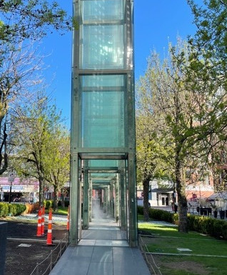 The New England Holocaust Memorial on Boston's Freedom Trail