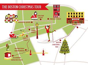 Map of The Boston Christmas Tour 2 (Revi