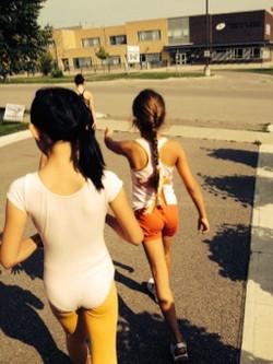 Morning jog around the block
