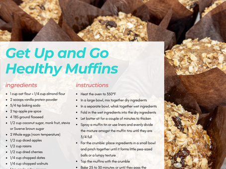 Get Up and Go Healthy Muffins