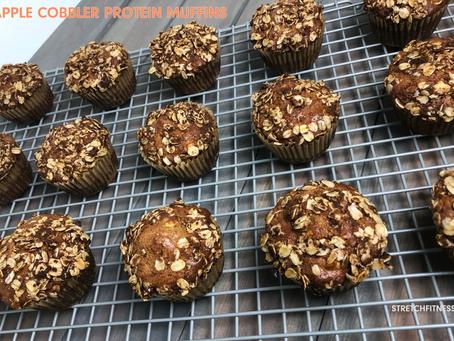 Apple Cobbler Protein Muffins