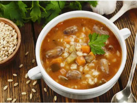 Warm and Cozy Crock-Pot Beef Barley Soup