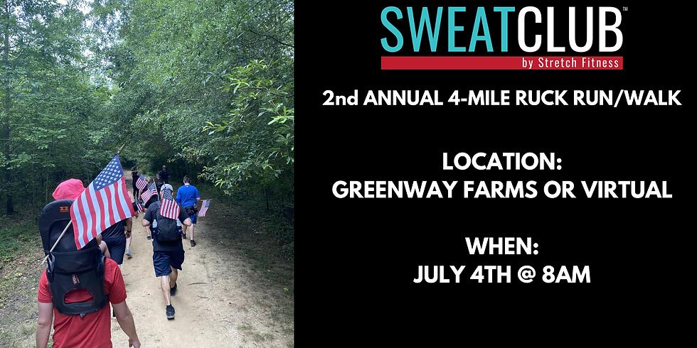 Sweat Club 2nd Annual 4th of July Ruck Run/Walk