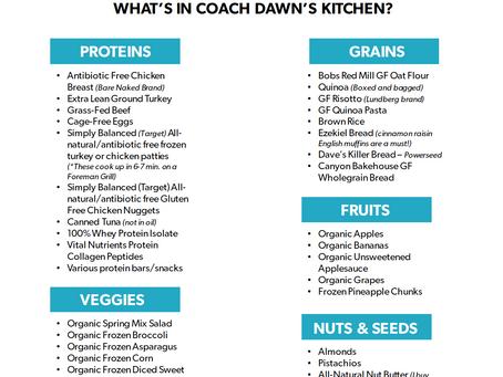 What's in Coach Dawn's Kitchen?