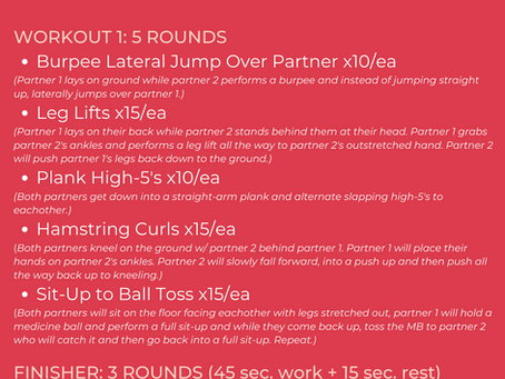 Valentine's Day Couples Workout
