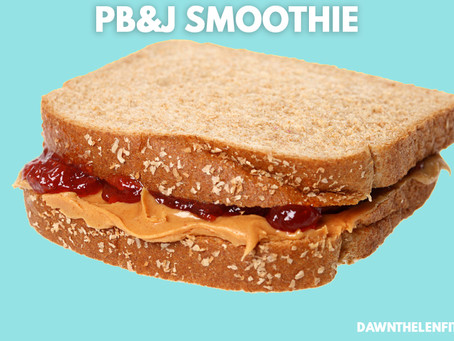 Bring out the kid in you, with a PB&J Smoothie!