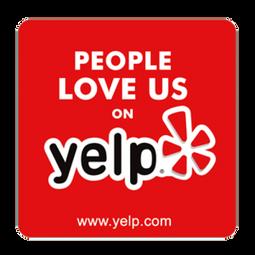 People love us on Yelp.