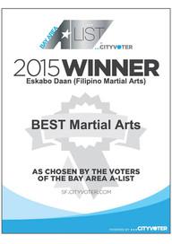 2015 Winner in the Bay Area A-List