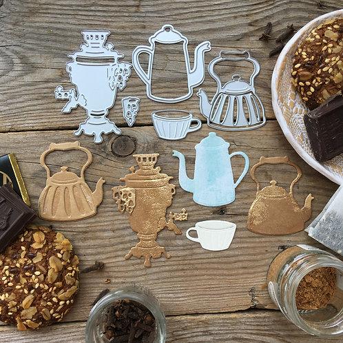 """Ножи для вырубки """"Выпьем чаю, кофею"""""""